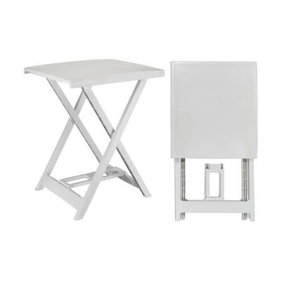Table Arno PVC (50 x H64 cm) Blanc - Achat / Vente table de jardin ...