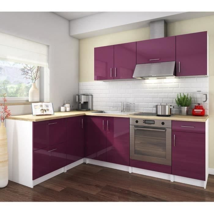 cosy cuisine compl te 2m80 laqu aubergine achat vente cuisine compl te cosy cuisine laqu. Black Bedroom Furniture Sets. Home Design Ideas
