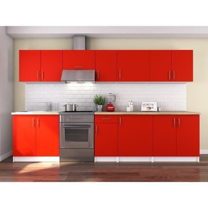 CUISINE COMPLÈTE OBI Cuisine complète L 320 cm - Rouge mat