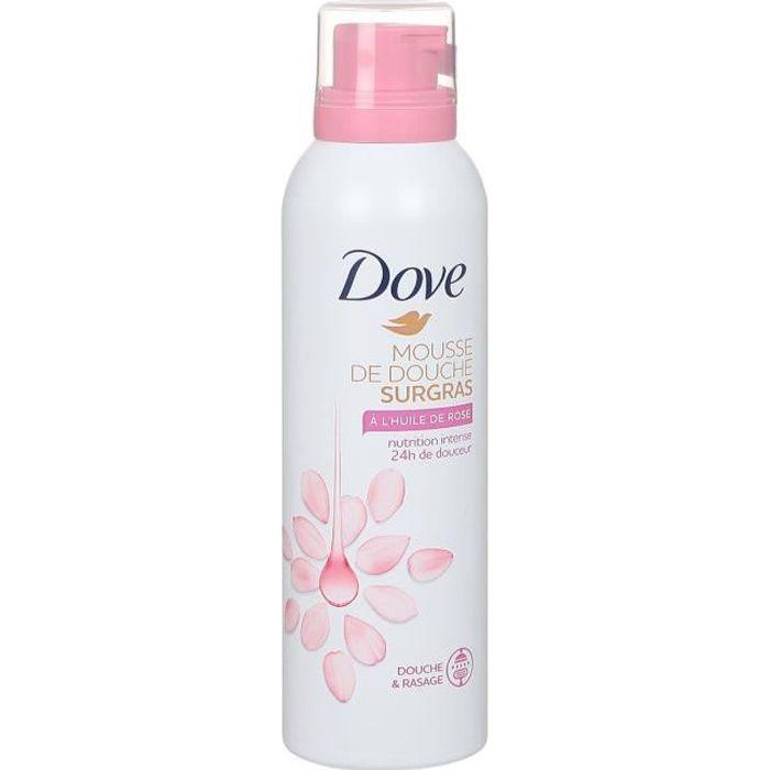 Dove Surgras Gel Douche Mousse Nourrissante Huile de Rose 24h 200ml