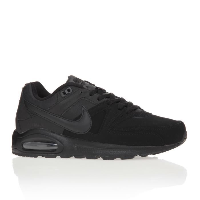 nike baskets air max command leather chaussures homme homme noir achat vente nike baskets. Black Bedroom Furniture Sets. Home Design Ideas