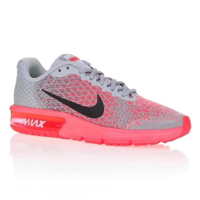 revendeur 715a0 e3f65 NIKE Baskets Air Max Sequent 2 - Enfant fille - Gris et rose ...