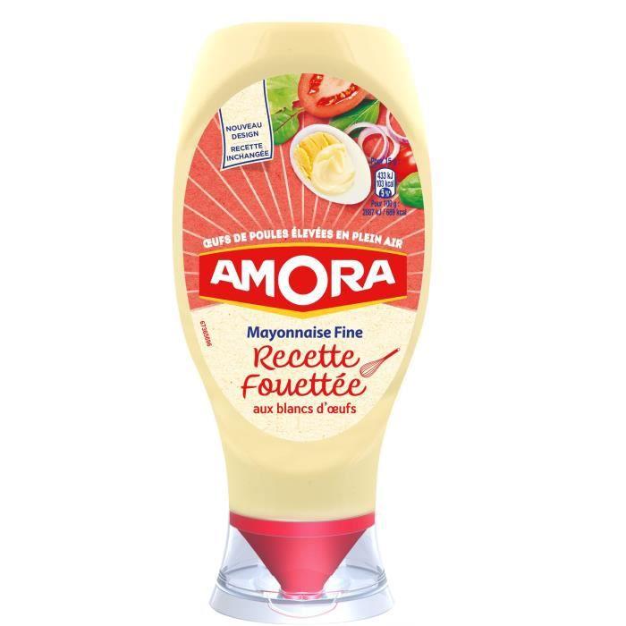 AMORA Mayonnaise Recette Fouettée Flacon Souple - 398 g