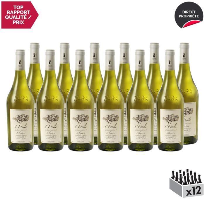 L'Etoile Sélection Blanc 2017 - Lot de 12x75cl - Domaine Jean-Luc Mouillard - Vin AOC Blanc du Jura - Cépages Chardonnay, Savagnin