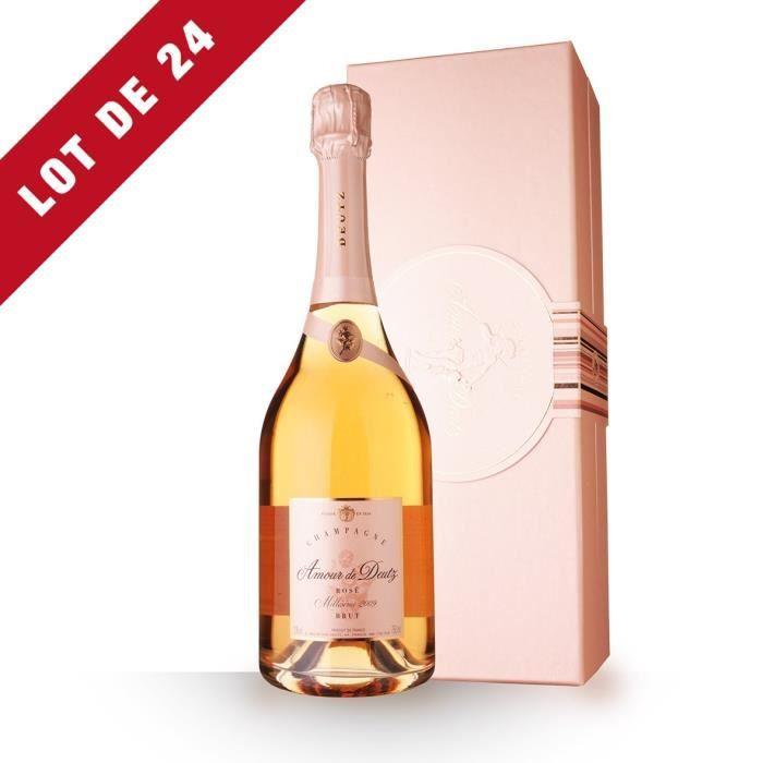 Lot de 24 - Amour de Deutz 2009 Brut Rosé - Coffret - 24x75cl - Champagne