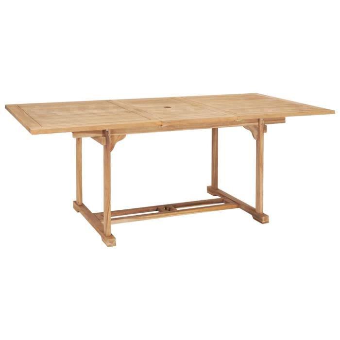 Table à dîner extensible 150-200x100x75 cm Teck solide #N15570
