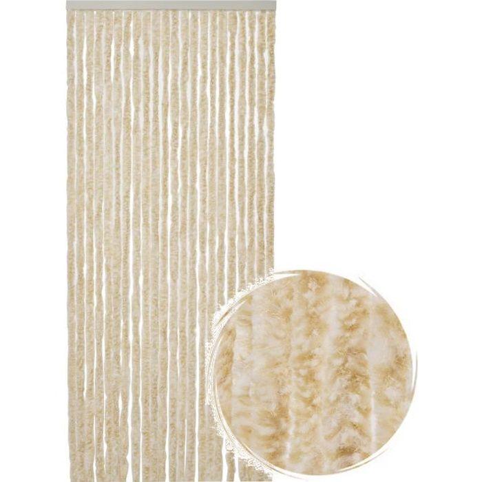Rideau de porte Chenille de qualité supérieure, Protection de vos espaces intérieurs, Anti-Insectes 90 x 220 cm Mix blanc/beige