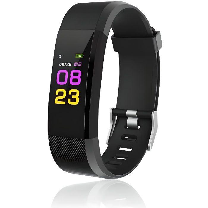 Bracelet connecté Fitness Tracker Bluetooth (noir)