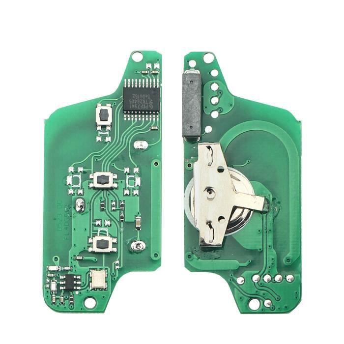 Coque clé,Dandkey Clé À Distance Circuit imprimé Pour Peugeot 207 307 308 407 607 807 Pour Citroen C2 C3 C4 - Type 3BT CE0523 - ASK