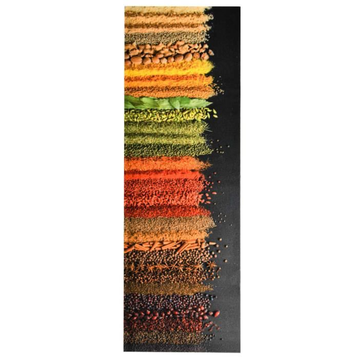Rumeng©Tapis de sol de cuisine lavable Épice 60x180 cm