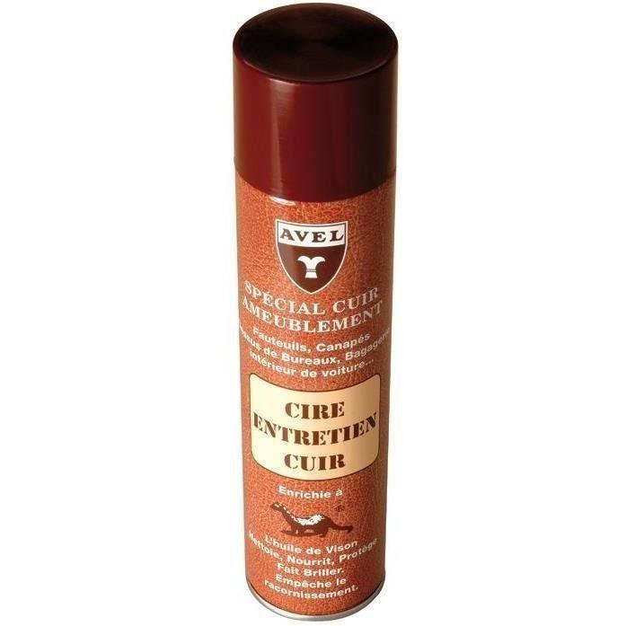 Cire aérosol - entretien cuir ameublement - 400 mL