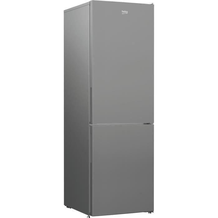 BEKO RCNA366K34SN Réfrigérateur congélateur bas - 324 L (215+109) - Froid ventilé - NeoFrost - Gris acier
