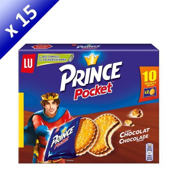 [LOT DE 15] Prince biscuits chocolat Pocket 400g