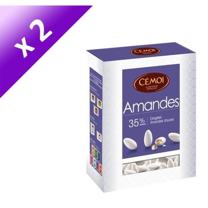 [LOT DE 2] CEMOI Boîte Dragées Amande blanche 35 % - 850 g
