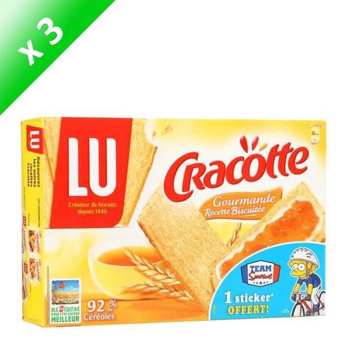 [LOT DE 3] Tartine biscuitée aux céréales 250g Cracotte