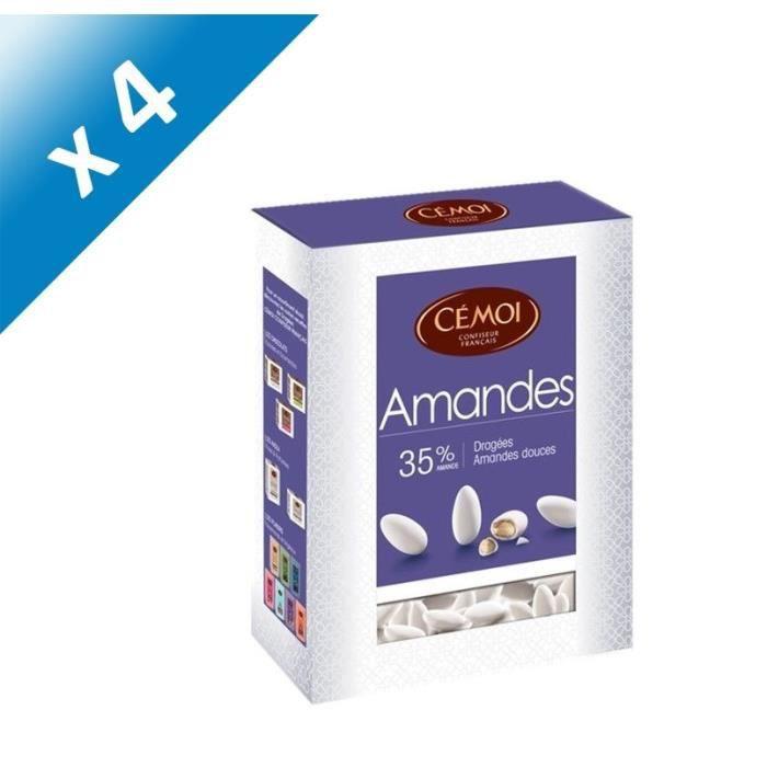 [LOT DE 4] CEMOI Boîte Dragées Amande blanche 35 % - 850 g