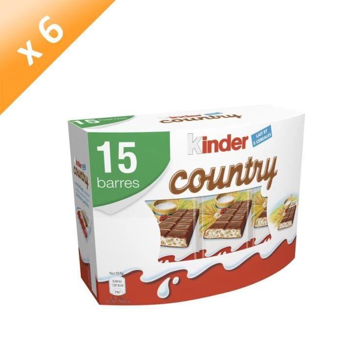 [LOT DE 6] KINDER Gaufrettes chocolatées Country T15 - 353 g