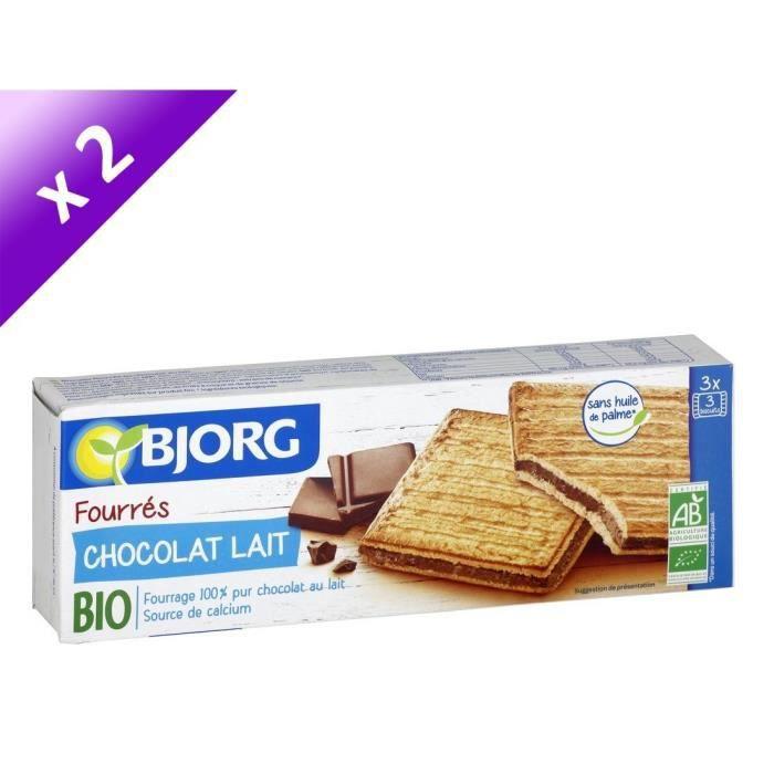 [LOT DE 2] Biscuits chocolat au lait bio 225 g Bjorg