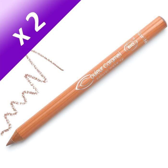 COULEUR CARAMEL Crayon Yeux et Lèvres Beige BIO (Lot de 2)