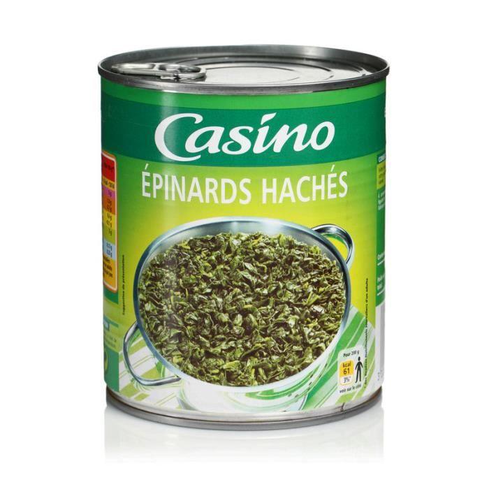 Epinards hachés - 795g