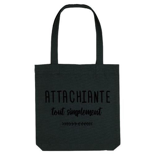 Tote bag Coton bord Noir GS ATTACHIANTE TOUT SIMPLEMENT