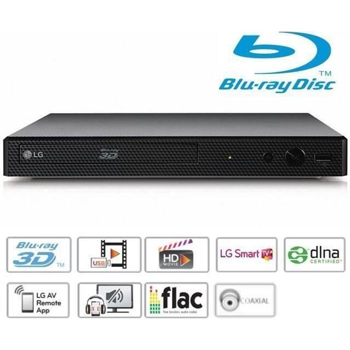 LG BP450 Lecteur Blu-ray DVD Full HD USB Smart TV