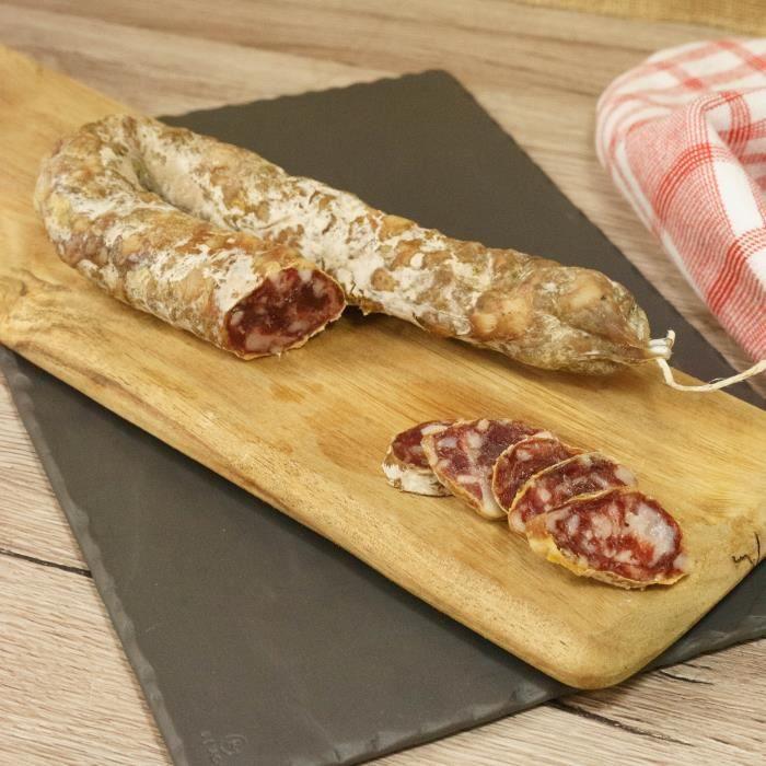 2 Saucisses sèches de porc traditionnelle -2x300g- France