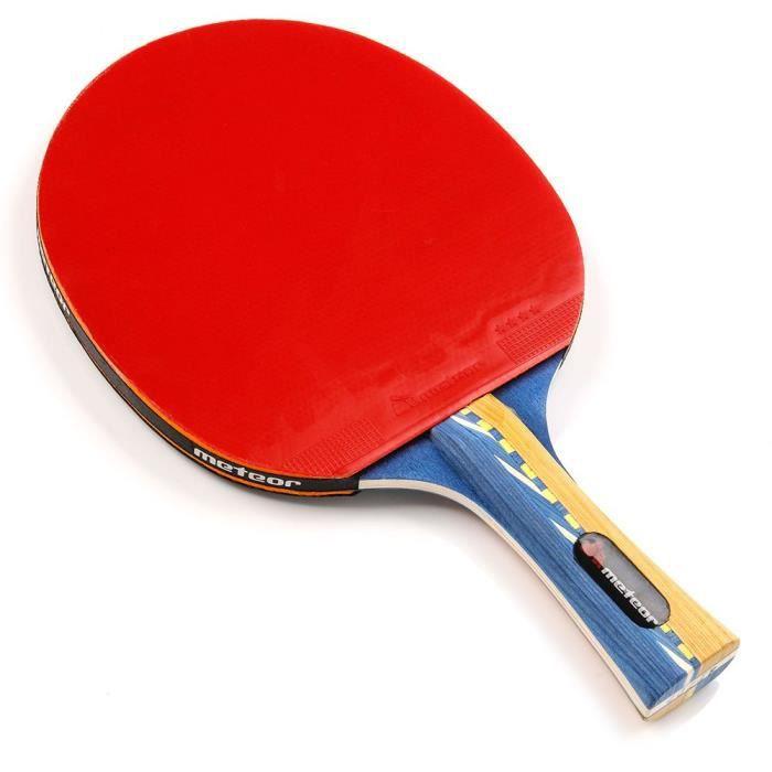 Raquette De Tennis De Table - meteor Windstorm - Ping Pong - pour amateurs et demi professionnels - Rouge Noir - 4 étoiles