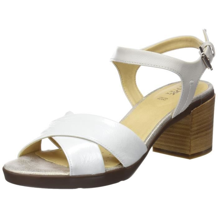 Geox D Annya Mid C ouvert Sandales Toe femmes 3Y8I6M Taille-37