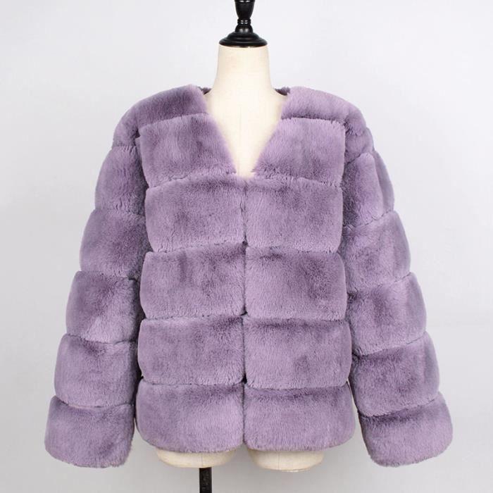 Manteau femme de Marque Europe et Amérique Nouveau Manteau de fourrure Manteau d'hiver Imprimé léopard Manteau de fourrure manteau