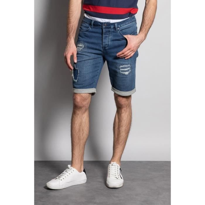 DEELUXE Short slim jogg jean délavé BULLET Stone Used