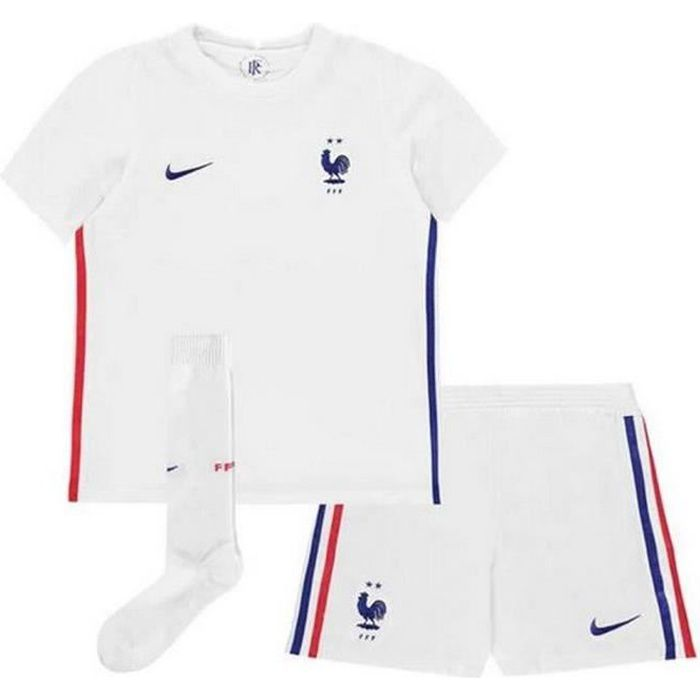 Ensemble Complet Mini-Kit Officiel Enfant Nike Equipe de France Football Extérieur Euro 2020