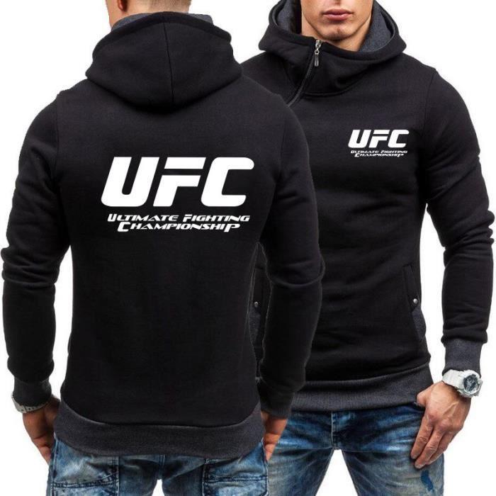 UFC Ultimate Fighting Championship Mma Logo SWEAT À CAPUCHE-Noir