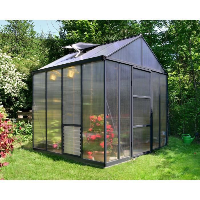 PALRAM Serre de jardin Glory 5,7 m² - Aluminium et polycarbonate - Double parois