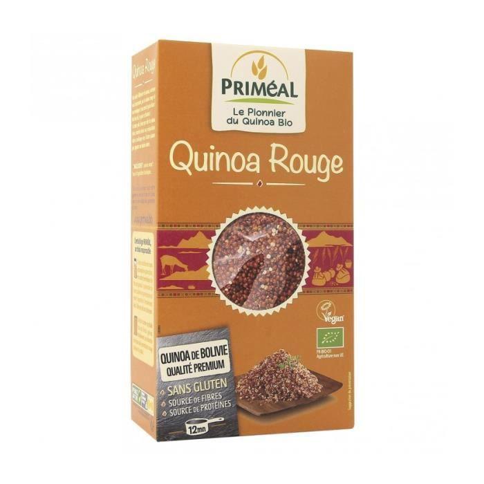 Céréales grains de quinoa rouge, 500g, Priméal