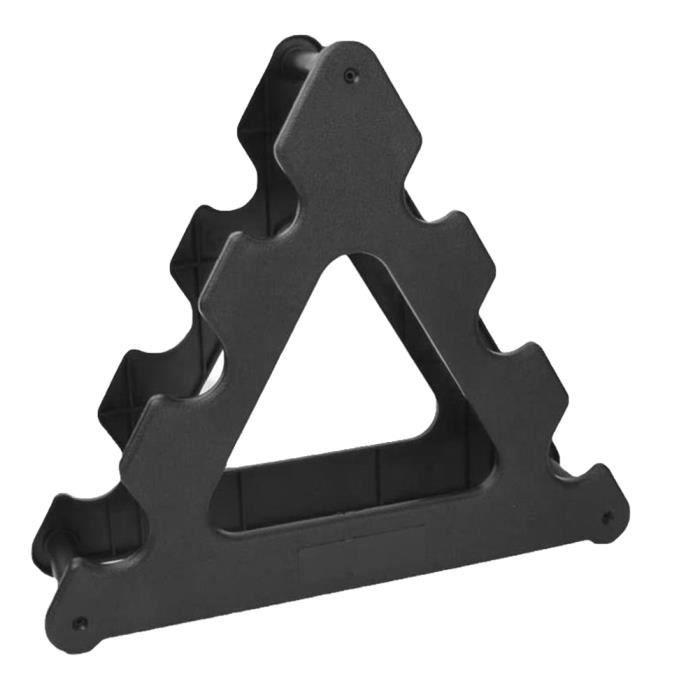 Dumbbell Rack Triangle Compact Haltère Support Poids de remise en forme haltère support noir