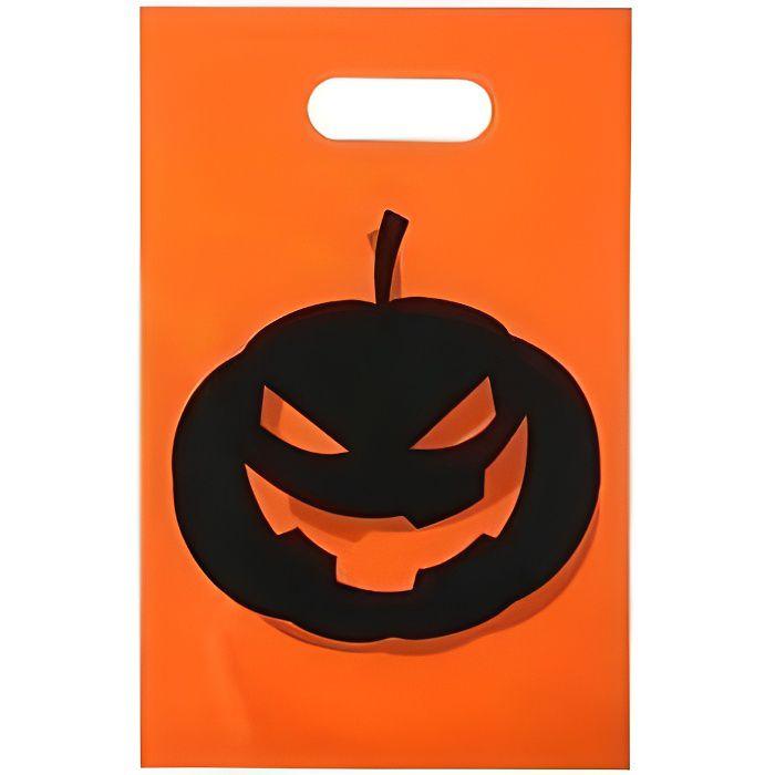 Sac à bonbon Halloween: Citrouille (x10)