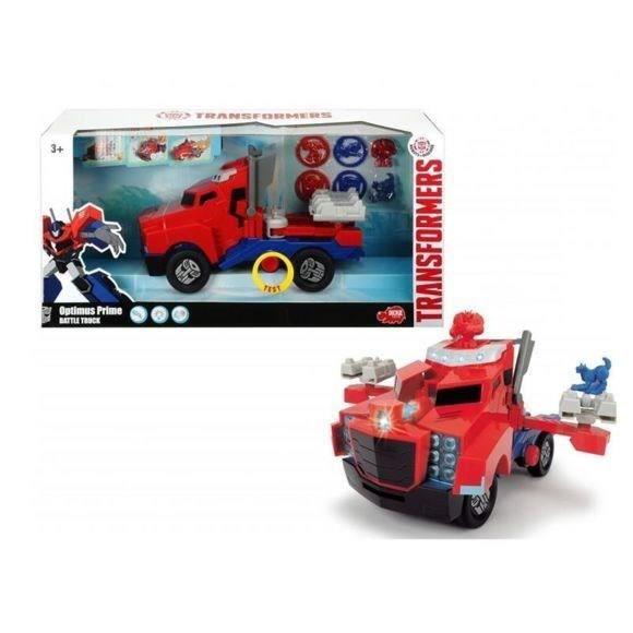 TRANSFORMERS MAJORETTE Optimus Prime Camion Lance Disque