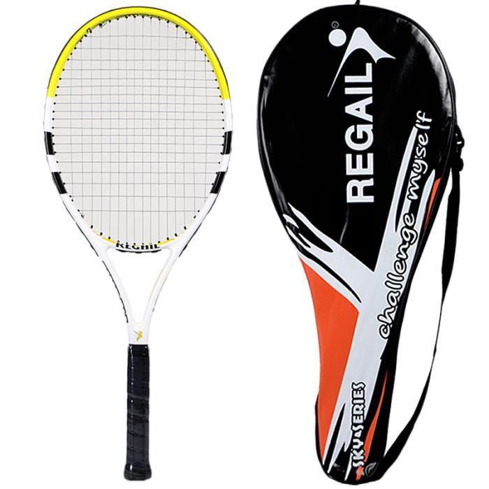 REGAIL 1 PièCe Raquette de Tennis en Fibre de Carbone Femmes Homme Mâle Raquette de Tennis pour Match Game Training avec Sac