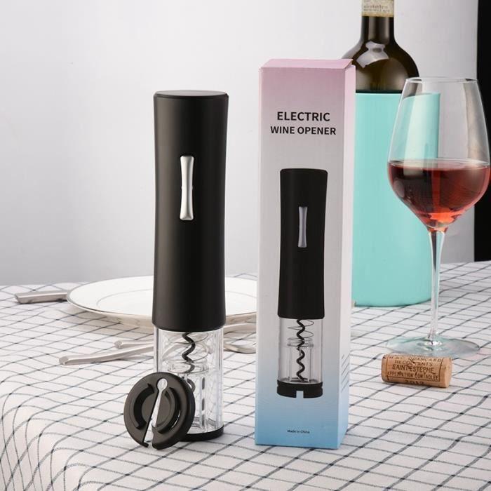 Tire-Bouchon à Vin Automatique éLectrique Tire-Bouchon à Vin Sans Fil Professionnel avec Tire-Bouchon-Noir