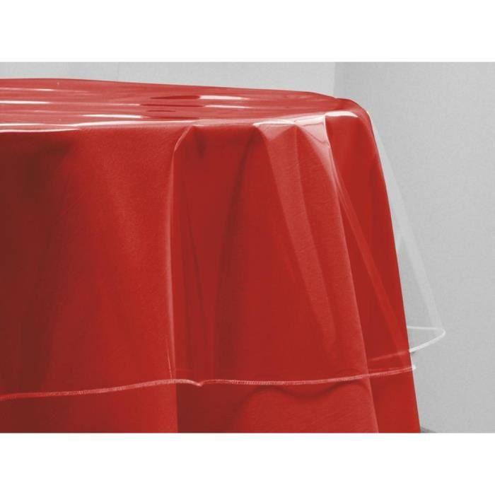 SOLEIL D'OCRE Nappe de table ronde Cristal 140 cm transparent