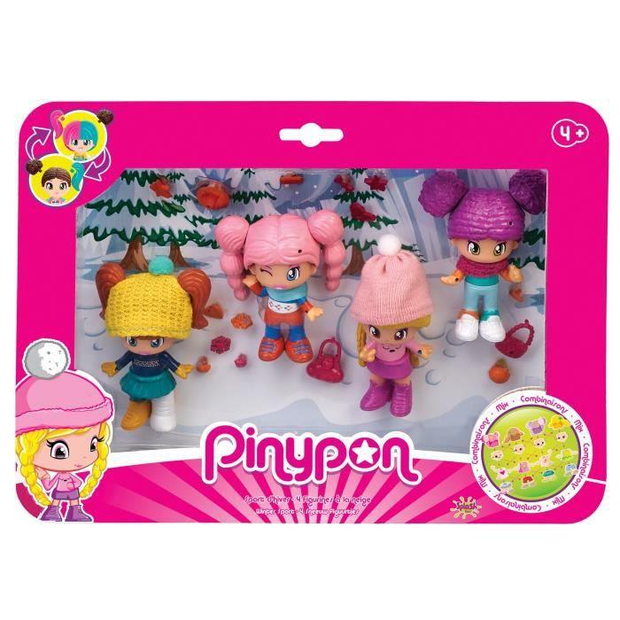 Pinypon - Coffret de 4 figurines - Sport d'hiver