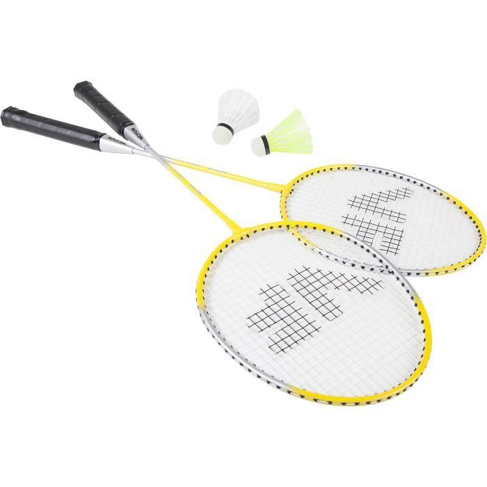 Kit de badminton VICFUN SET B - Raquettes et volant Jaune