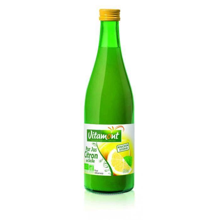 Pur jus de citron jaune - 50cl