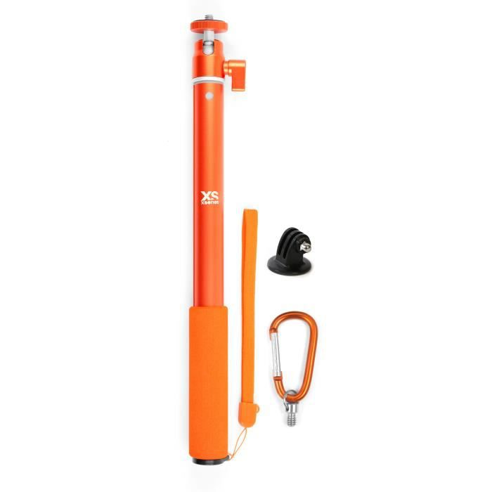 XSories - BIG U-SHOT avec Tripod Mount - Perche 29 à 94 cm pour GoPro, appareil photo ou camera, inoxydable - Orange
