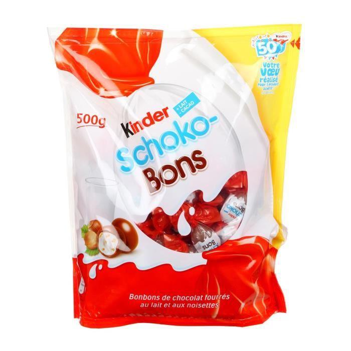 KINDER Schocobons Sachet de 86 Bonbons de chocolat fourrés au lait