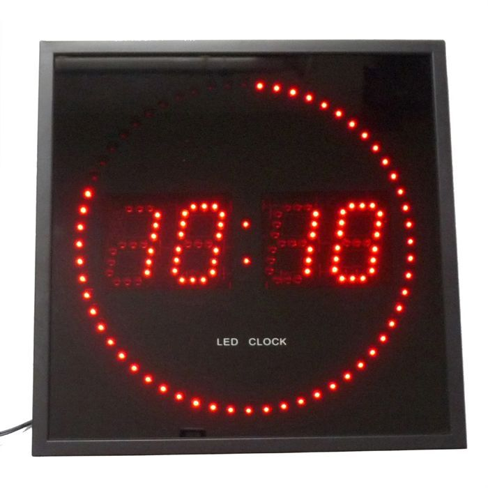 pendule led rouge 28cm achat vente horloge verre cdiscount. Black Bedroom Furniture Sets. Home Design Ideas