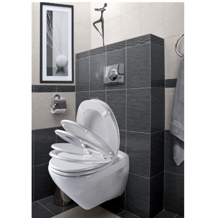abattant s r nity allibert blanc achat vente abattant wc cdiscount. Black Bedroom Furniture Sets. Home Design Ideas