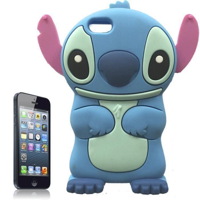 coque iphone 5 5s stitch en silicone souple e9243