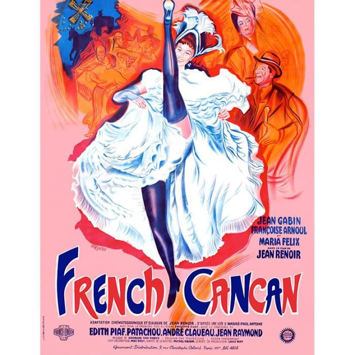 french cancan reproduction poster cin ma 60x80 achat. Black Bedroom Furniture Sets. Home Design Ideas